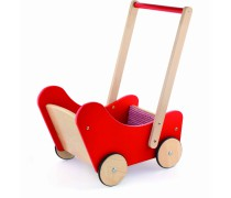 Medinis raudonas lėlių vežimėlis | 59215 | Viga
