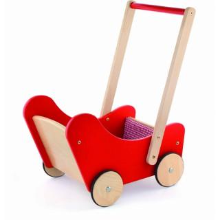 Medinis raudonas lėlių vežimėlis   Viga 59215