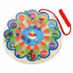 Vaikiškas medinis magnetinis žaidimas-labirintas | Laikrodis | Viga 59980