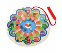 Vaikiškas medinis magnetinis žaidimas-labirintas | Laikrodis | Viga Toys