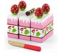 Medinis braškinis pjaustomas pyragas | Viga Toys