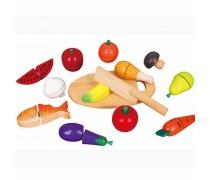 Medinis pjaustomas maisto ir daržovių rinkinys dėžutėje | Viga