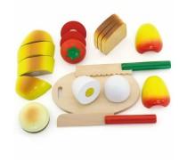 Medinis pjaustomas pusryčių rinkinys dėžutėje | Viga Toys