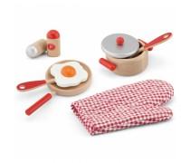 Žaislinis medinis pusryčių rinkinys | Raudonas | Viga