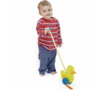 Medinis stumiamas žaislas | Antytė | Viga