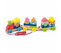 Žaislinis medinis traukinukas | Viga 50089