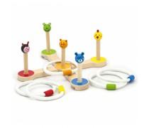 Vaikiškas medinis žaidimas | Mesk žiedą | Viga