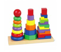 Medinių piramidžių rinkinys | Viga 50567