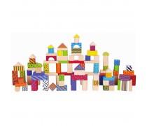 Medinių spalvotų kaladėlių rinkinys 100 vnt | Viga Toys