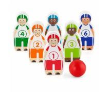 Vaikiški mediniai kėgliai-figūrėlės su kamuoliu | Boulingas | Viga Toys