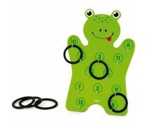 Medinis žaidimas žiedų metimas | Frog Ring | Viga Toys