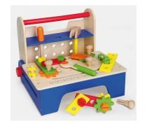 Žaislinė medinė įrankių dėžė su priedais | Viga
