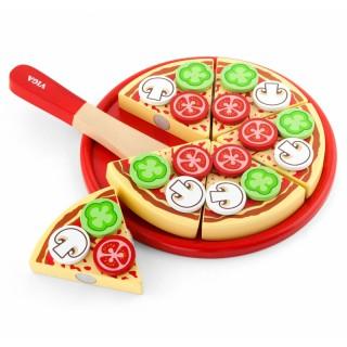 Žaislinė pjaustoma pica | Medinė | Viga