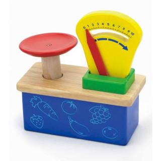 Žaislinės medinės svarstyklės su skale | 59691 | Viga