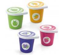 Žaisliniai 4 mediniai jogurtai indeliuose | Viga Toys