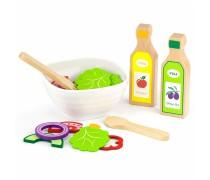 Žaislinis medinis salotų rinkinys 36 vnt| Viga