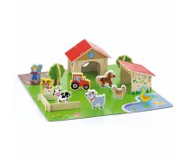 Žaislinis medinis ūkis - ferma 3D | 30 vnt | Viga 50540