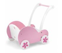 Rožinis medinis vežimėlis lėlei | Viga 50176
