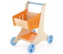 Žaislinis medinis pirkinių vežimėlis | Viga