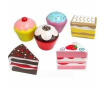 Žaislinis medinių pyragėlių ir keksiukų rinkinys | Viga Toys