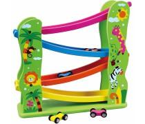 Žaislinių medinių mašinėlių trasa | Slide Track | Viga Toys