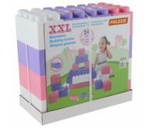 Didelės konstruktoriaus kaladėlės XXL 24 vnt su jungtimis | pastelinių spalvų | Wader