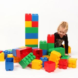 Didelės konstruktoriaus kaladėlės XXL 24 vnt | Wader