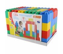 Vaikiški didžiuliai statybiniai blokeliai kaladėlės 72 vnt ir 72 jungtys | Wader