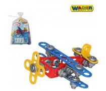 Vaikiškas konstruktorius lėktuvas | 57 detalių | Wader