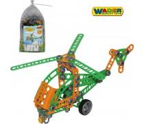 Vaikiškas konstruktorius sraigtasparnis | 130 detalės | Wader 55026