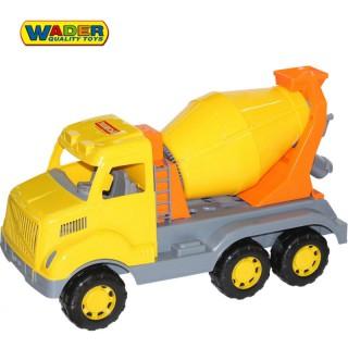 Žaislinis sunkvežimis su betono maišykle 59 cm | Wader