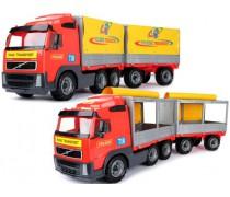 Žaislinis sunkvežimis su atsidarančia priekaba 75 cm | Volvo | Wader