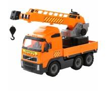Žaislinis sunkvežimis kranas 52 cm | Oranžinis | Wader