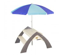 Medinis pikniko - iškylos stalas su skėčiu | Delta | Axi iA031.023.00