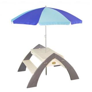 Medinis pikniko - iškylų stalas su skėčiu | Delta | Axi