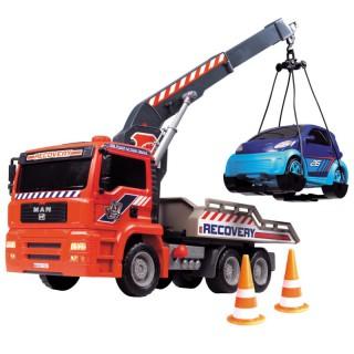 Automobilis vilkikas 31 cm su kranu ir mašina | Air Pump Crane Truck | Dickie 3806000