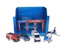 SOS garažas - 3 automobiliai ir sraigtasparnis | SOS Garage | Dickie 3715009