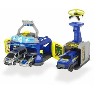 Žaislinė policijos nuovada su 3 automobiliais | Dickie 3717004