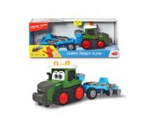 Žaislinis traktorius 30 cm su plūgu ir sėjamąja | Happy Fendt Plow | Dickie 3815003