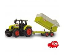 Žaislinis traktorius su priekaba 57 cm | CLAAS | Dickie 3739000