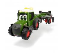 Žaislinis traktorius 30 cm su šieno vartytuvu | Happy Fendt Tedder | Dickie 3815002