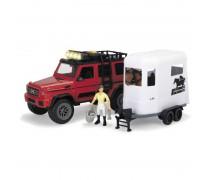 Žaislinis visureigis su priekaba žirgui | Horser Trailer Set | Dickie 3838002