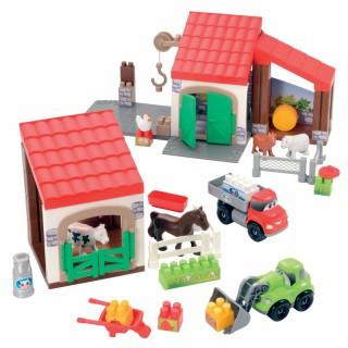 Konstruktorius ferma su gyvūnais   Abrick   Ecoiffier 3044