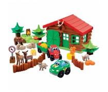 Girininko namas su mašinėlėmis ir gyvūnais | Abrick | Ecoiffier 3040