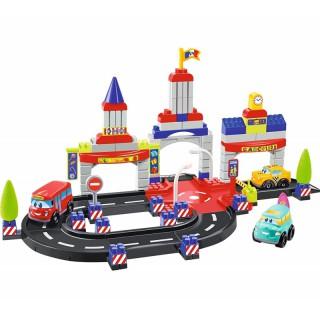 Konstruktorius - lenktynių trasa su 4 mašinomis | Abrick 3028 | Ecoiffier