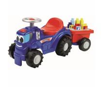 Paspiriamas traktorius su priekaba ir kaladėlėmis 8 vnt | Abrick | Ecoiffier