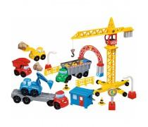 Statybinių mašinėlių rinkinys su kranu ir priedais | Abrick | Ecoiffier 3035