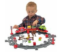 Konstruktorius traukinukas su gyvūnais | Abrick | Ecoiffier 3068