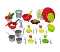 Žaislinis virtuvės virėjo indų reikmenų rinkinys ir 47 priedai | Chef-Cook | Ecoiffier 2621