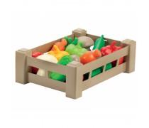 Žaislinių daržovių rinkinys dėžutėje 15 vnt | Ecoiffier 948